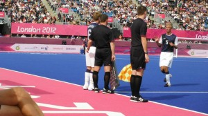 Bryce Boarman leaves the field at the 2012 Paralympic Games
