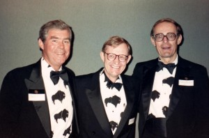 Charles McCord, left, with former CU President Gordon Gee and Clancy Herbst in the late 1980s.